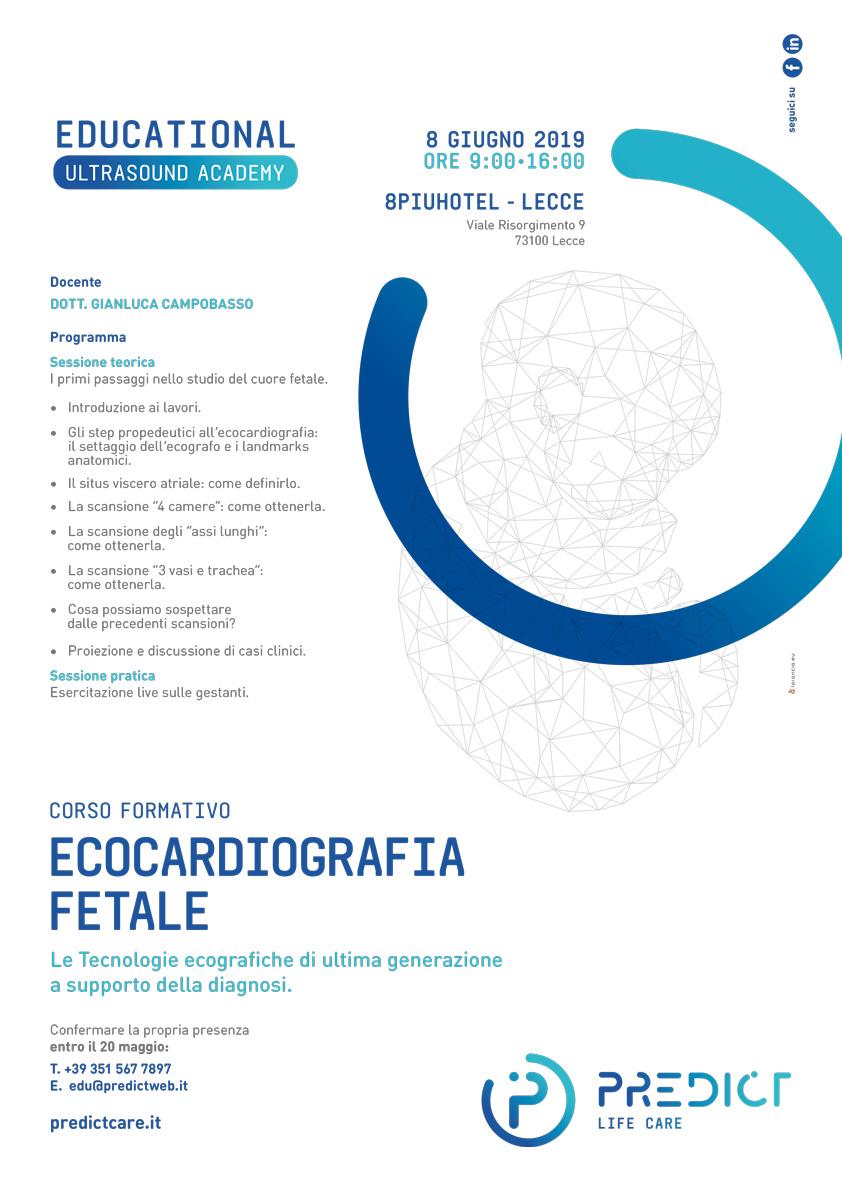 corso ecocardiografia fetale predict locandina